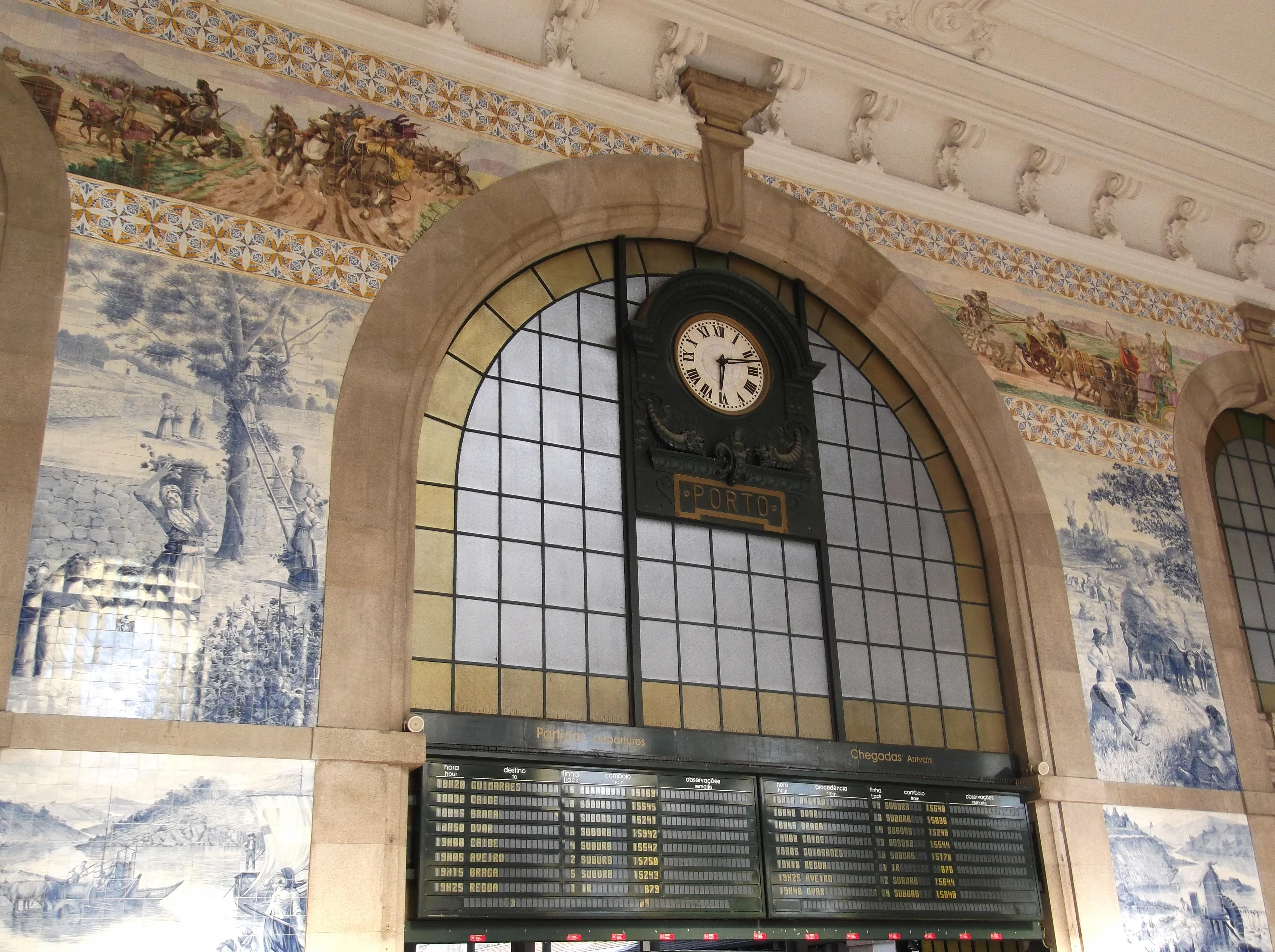 gare de Sao Bento à Porto
