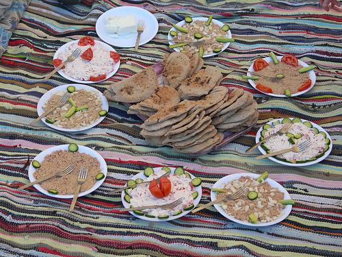 Un repas en Egypte