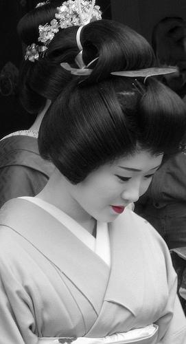 Une geisha au Japon