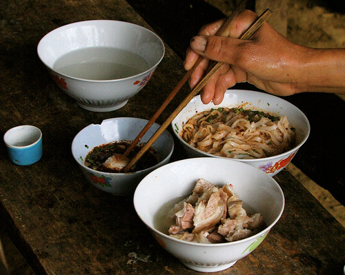 Repas au Vietnam