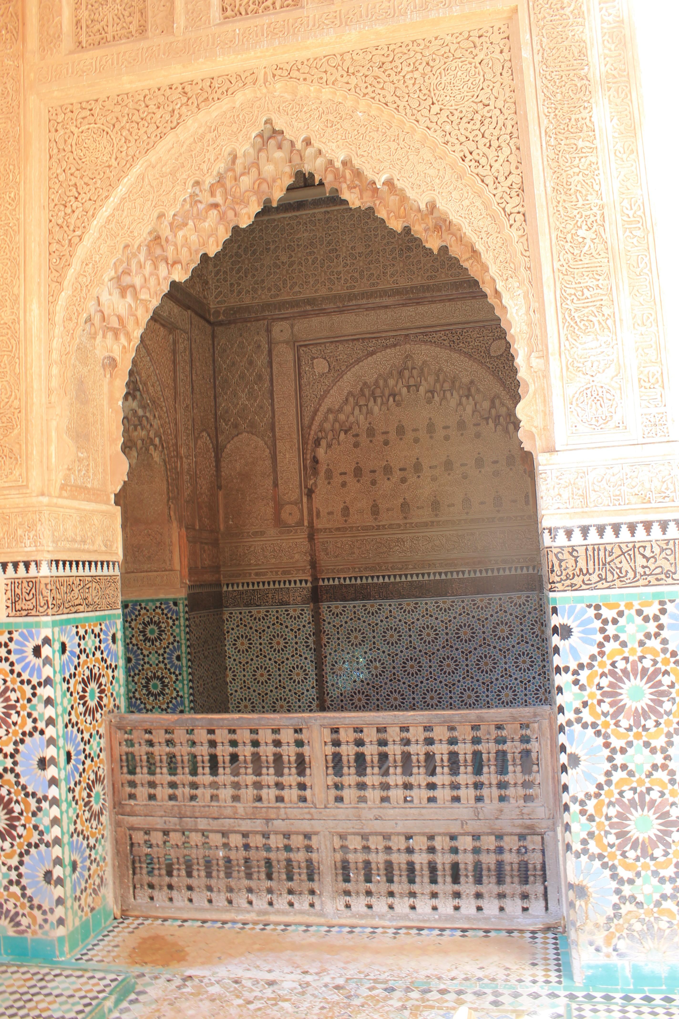 Les tombeaux saâdiens de Marrakech