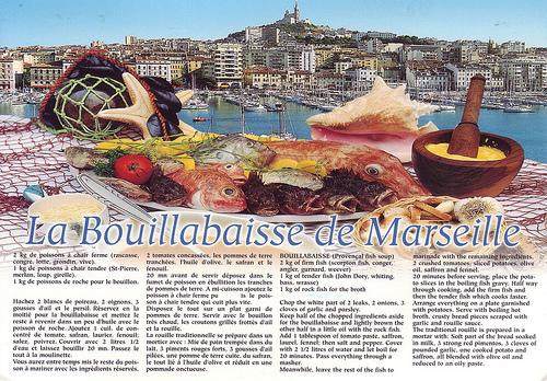 La bouillabaisse de Marseille