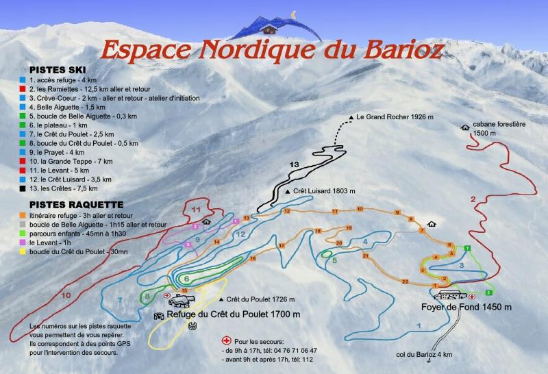 Plan de l'itinéraire pour rejoindre le Crêt du Poulet