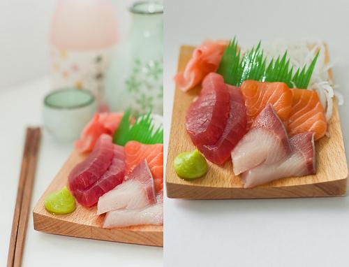 Les sashimis au Japon