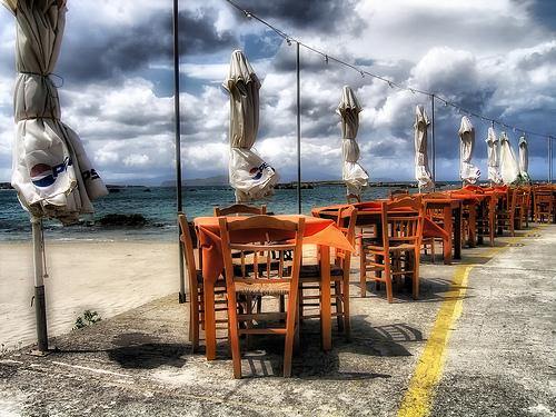 Un restaurant en Crète