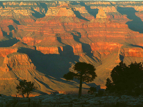 Coucher de soleil au Grand Canyon