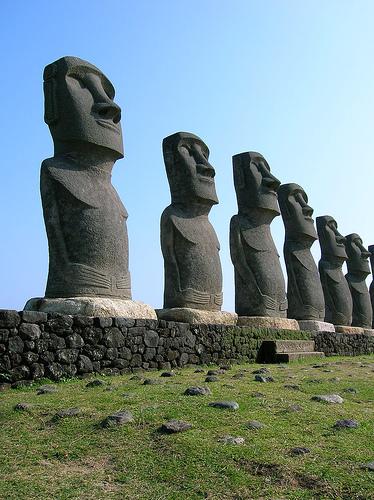 Les Moaï de l'île de Pâques