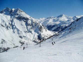 Piste de ski à Tignes