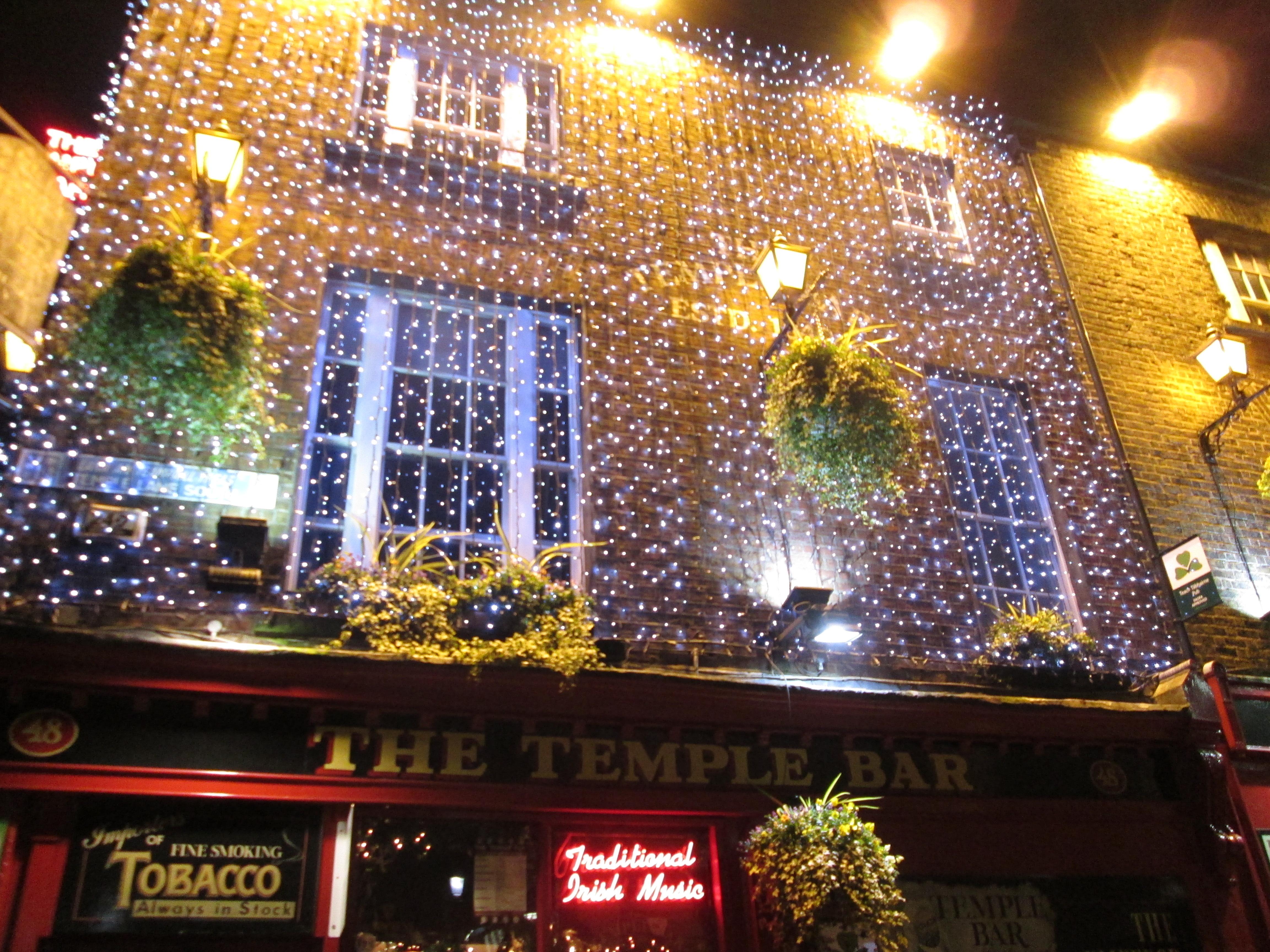 Façade du pub The Temple Bar