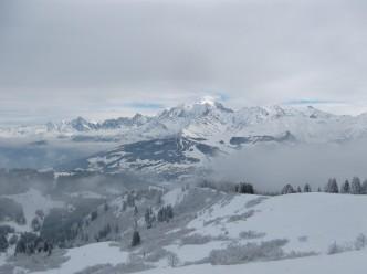 La vue sur le Jaillet et la chaine du Mont-Blanc depuis Le Christomet