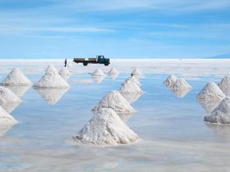 Des tas de sel dans le Salar d'Uyuni © Flickr -  jo vh