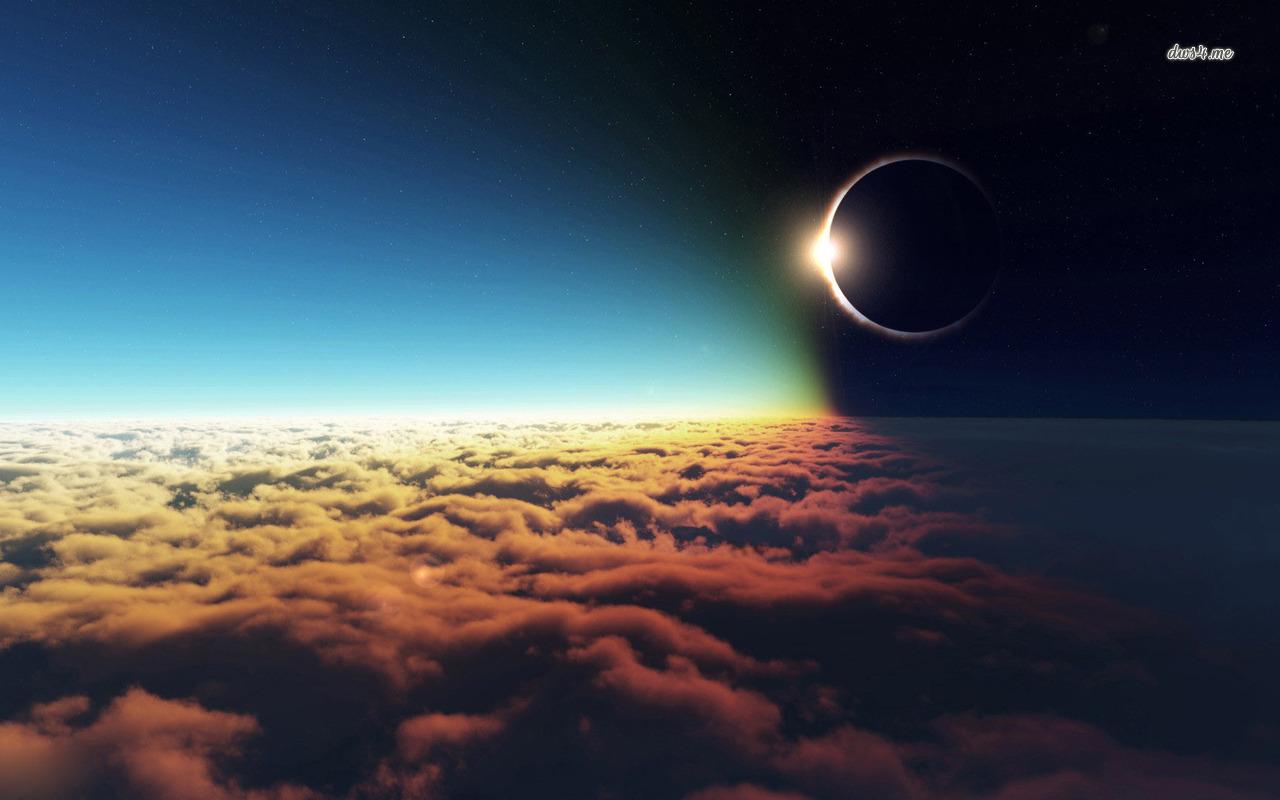 Éclipse vue du ciel © eweb4.com