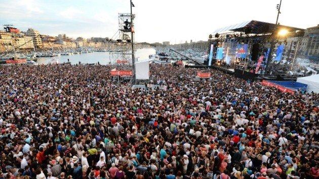 Fête de la musique à Marseille sur le Vieux-Port en 2013