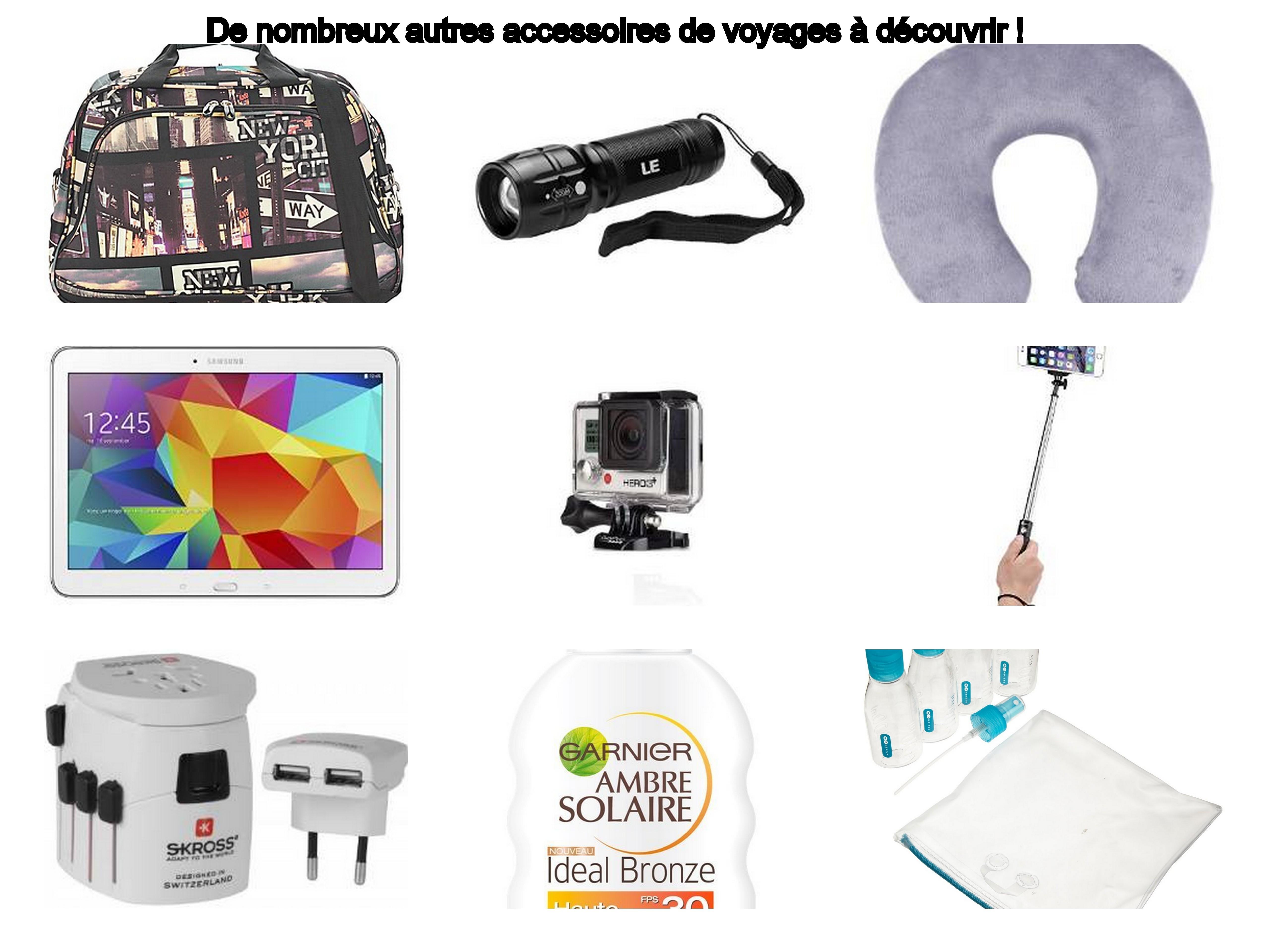 Les accessoires de voyage (divers et high-tech) à mettre dans sa valise