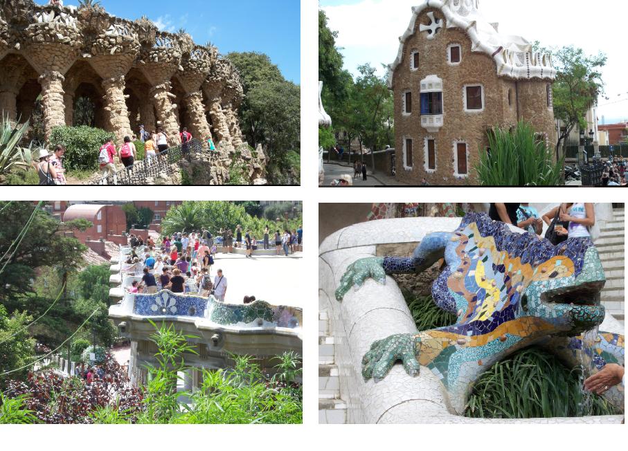 Le parc Guell à Barcelone