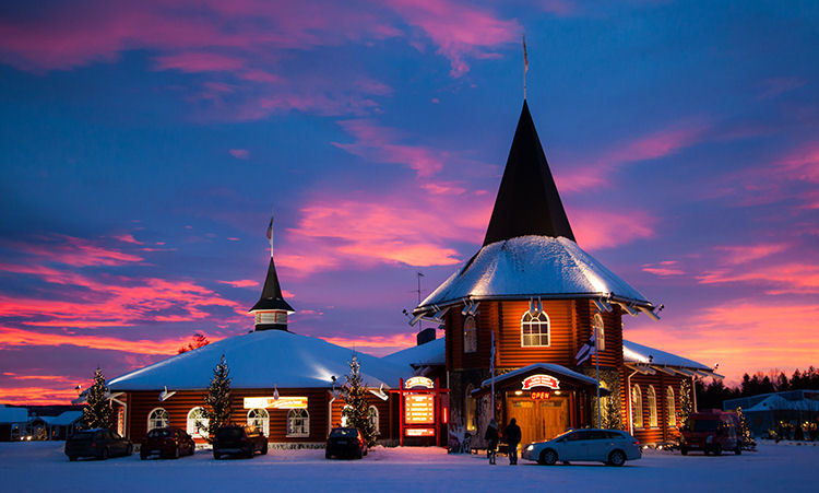 Le village du Père Noël en Laponie