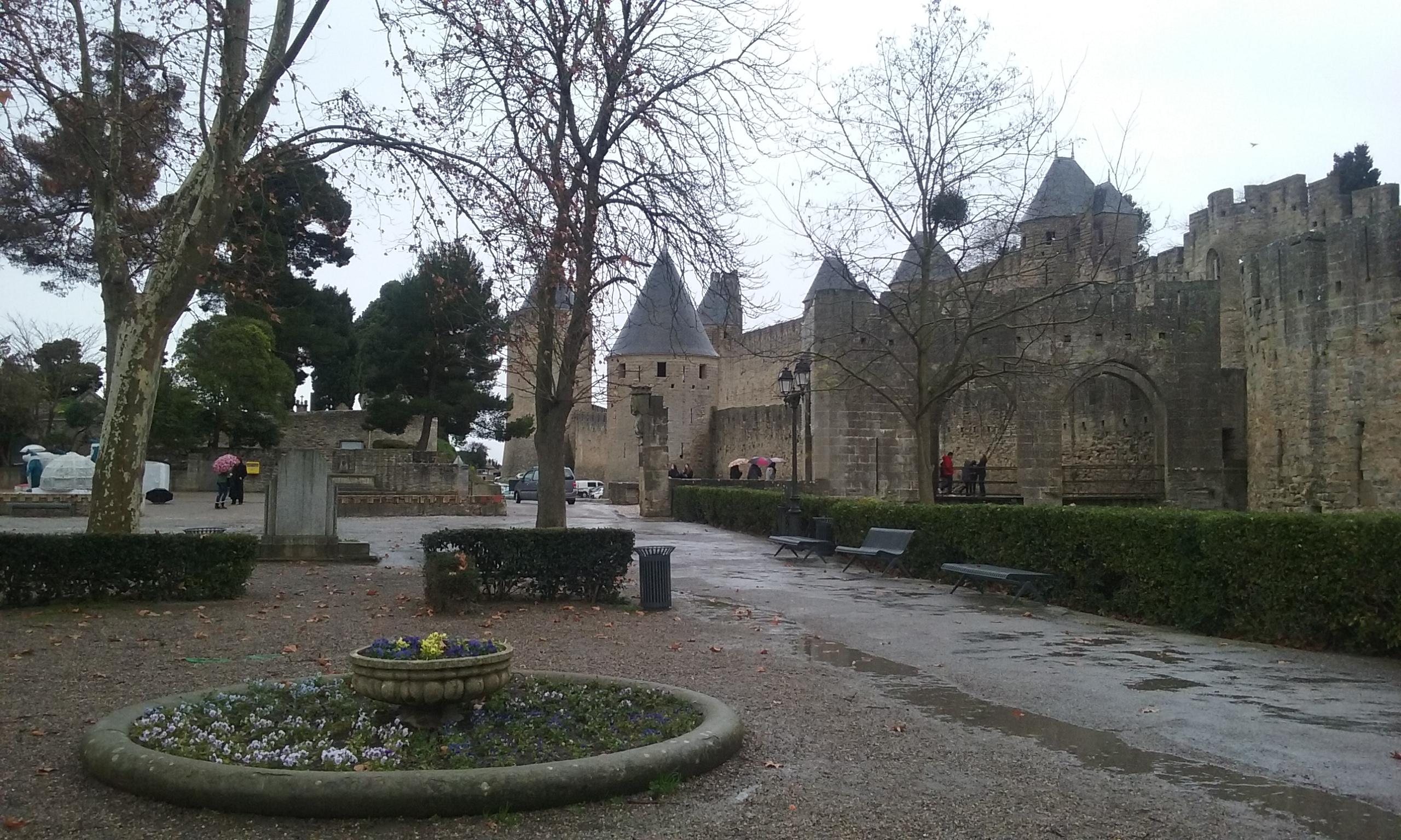 L'accès à la Cité de Carcassonne