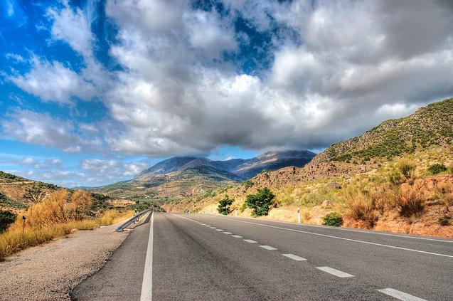 Une route dans la Sierra Magina
