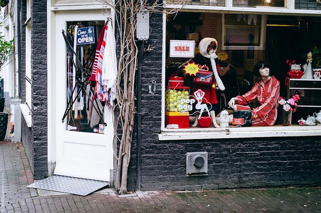 Un magasin dans le quartier de Jordaan à Amsterdam