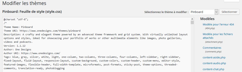 Le CSS sur WordPress