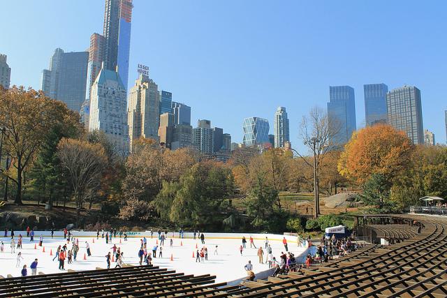 Patin à glace à Central Park