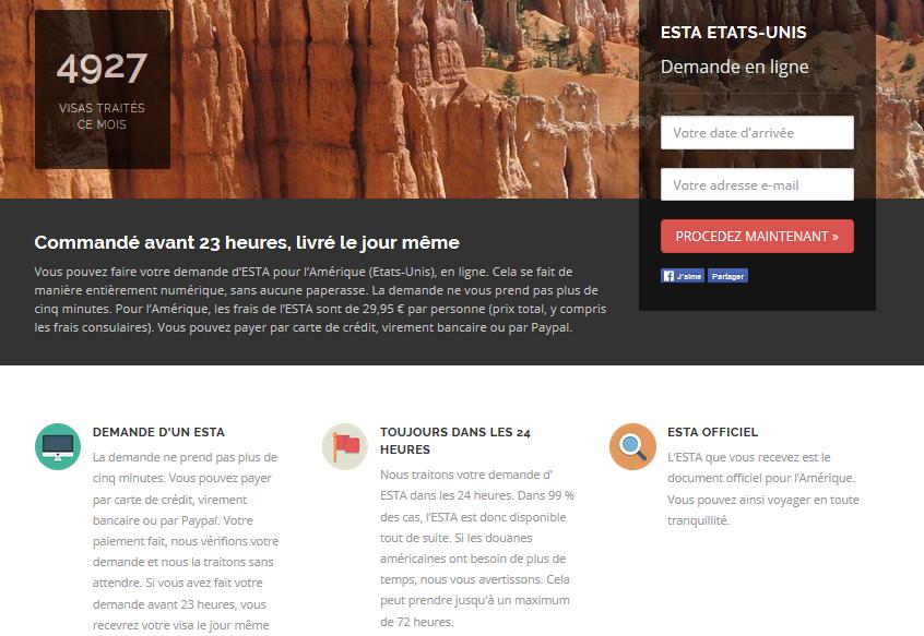 Demande de visa pour les Etats-Unis avec e-visums.fr