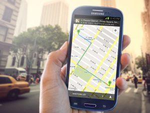 Google Maps sur smartphone