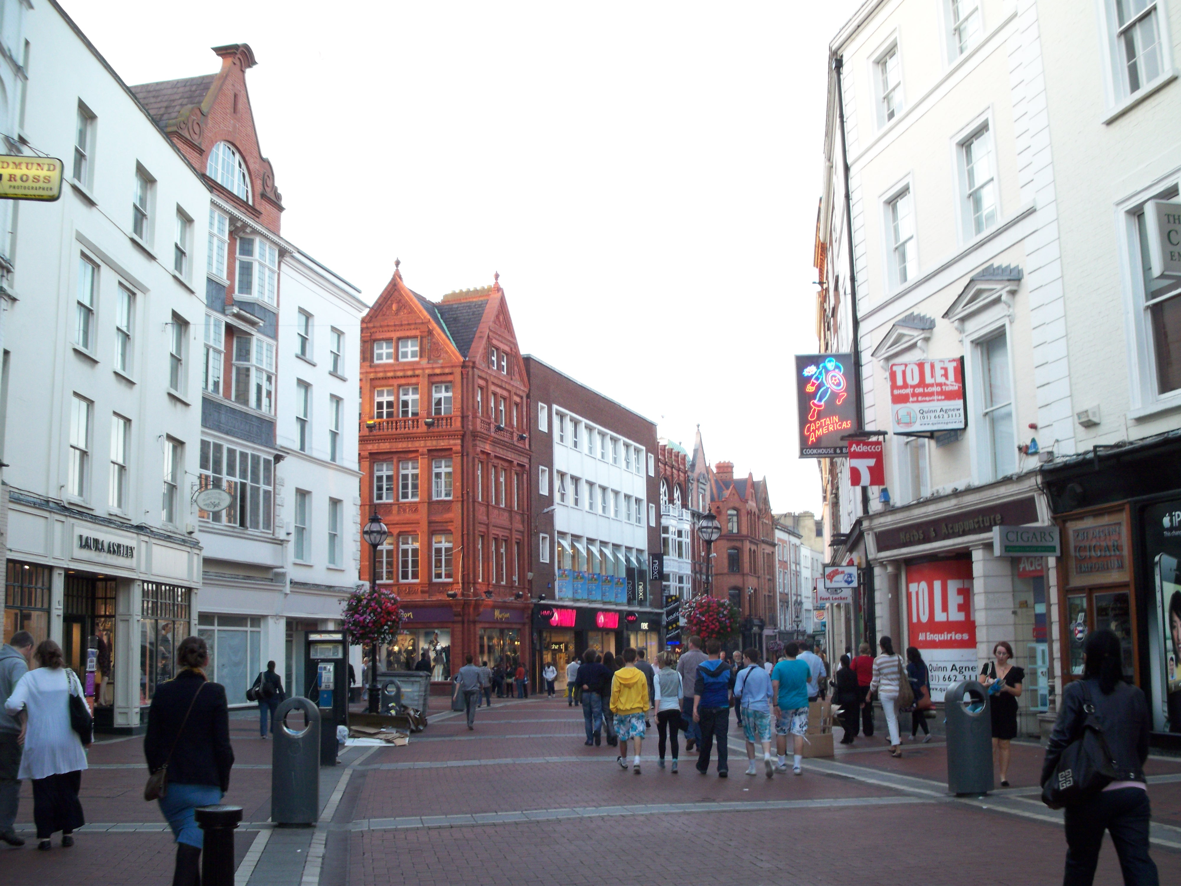 Rue Grafton Street à Dublin