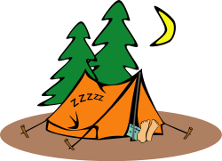 Camping dormir dans une tente
