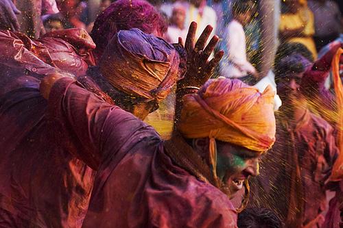 Fete des couleurs Holi, Inde