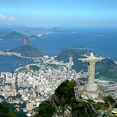 Statue du Christ Rédempteur de Rio de Janeiro au Brésil