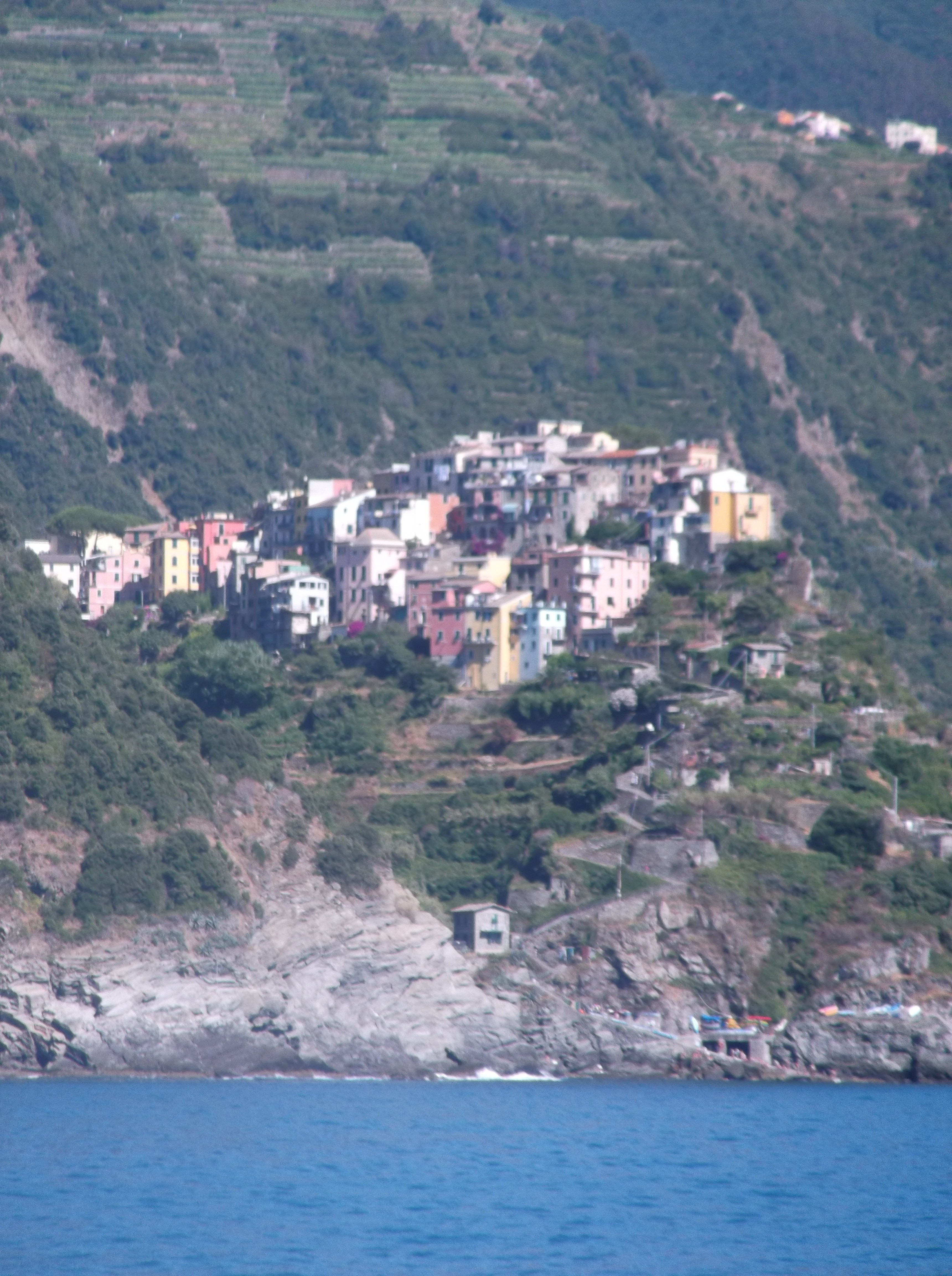 Corniglia vue depuis le bateau
