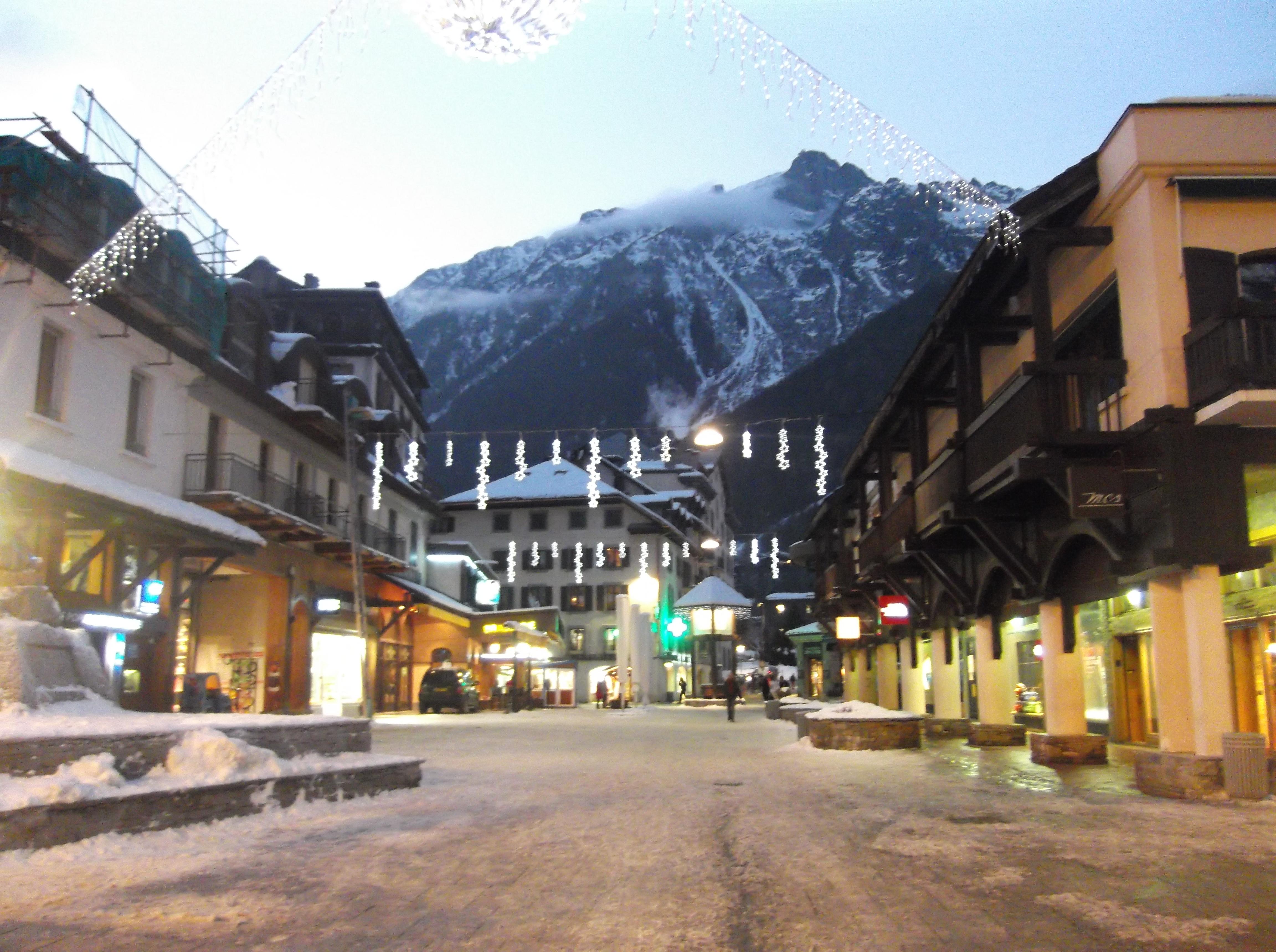Le centre-ville de Chamonix