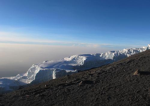 Glacier à Uhuru au Kilimandjaro