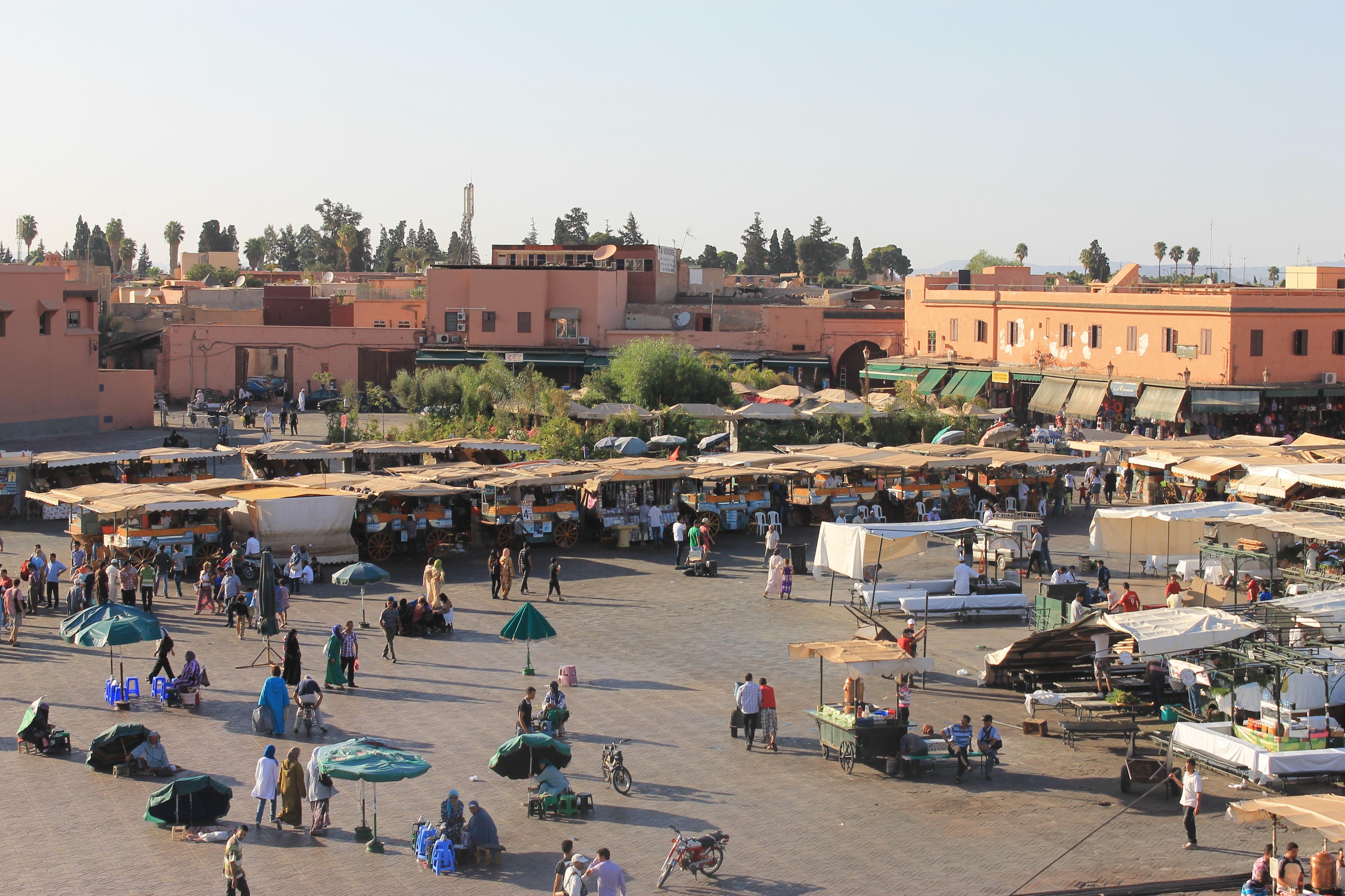 La place Jemma-El-Fna de Marrakech