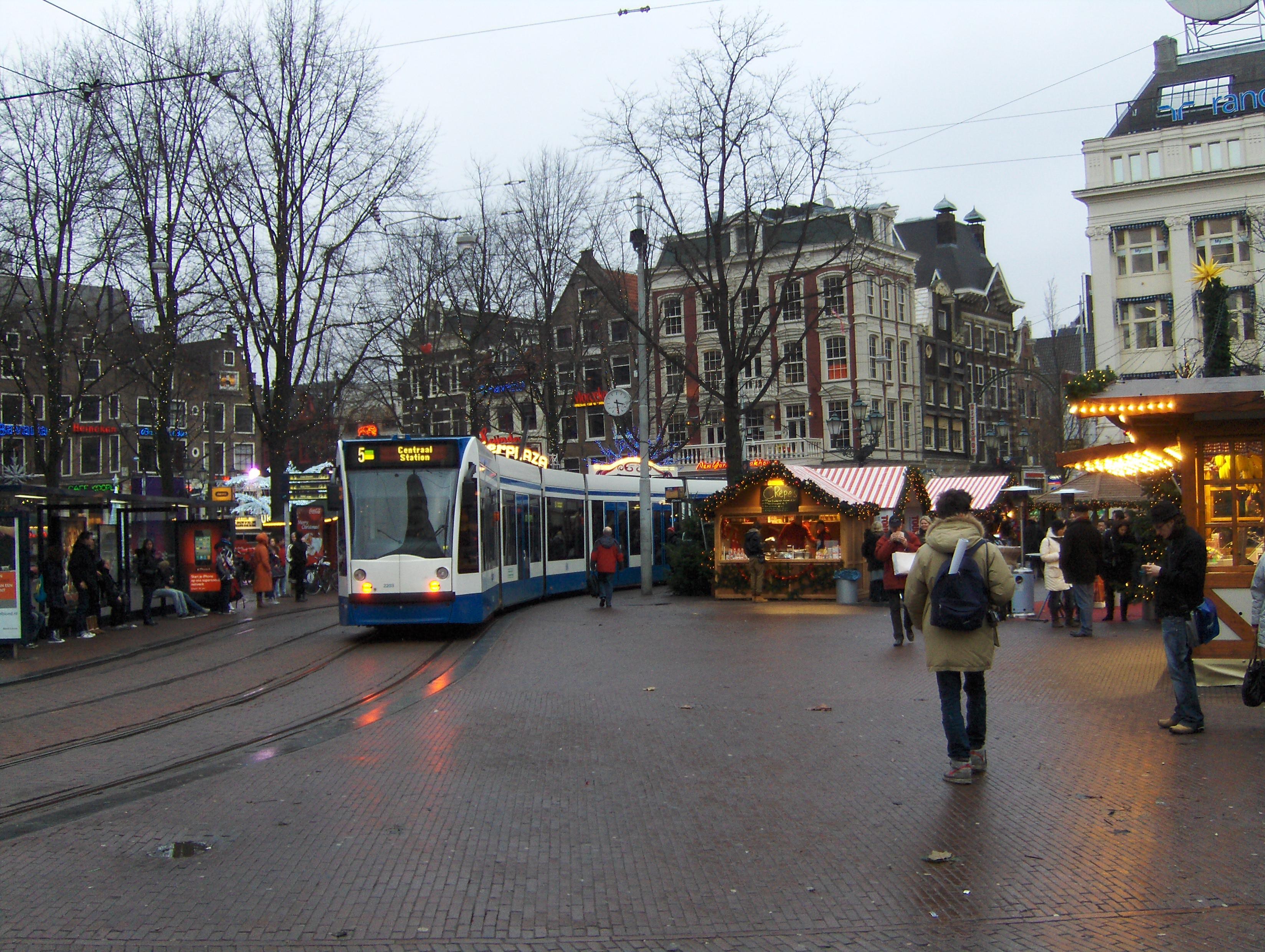 Le centre-ville d'Amsterdam