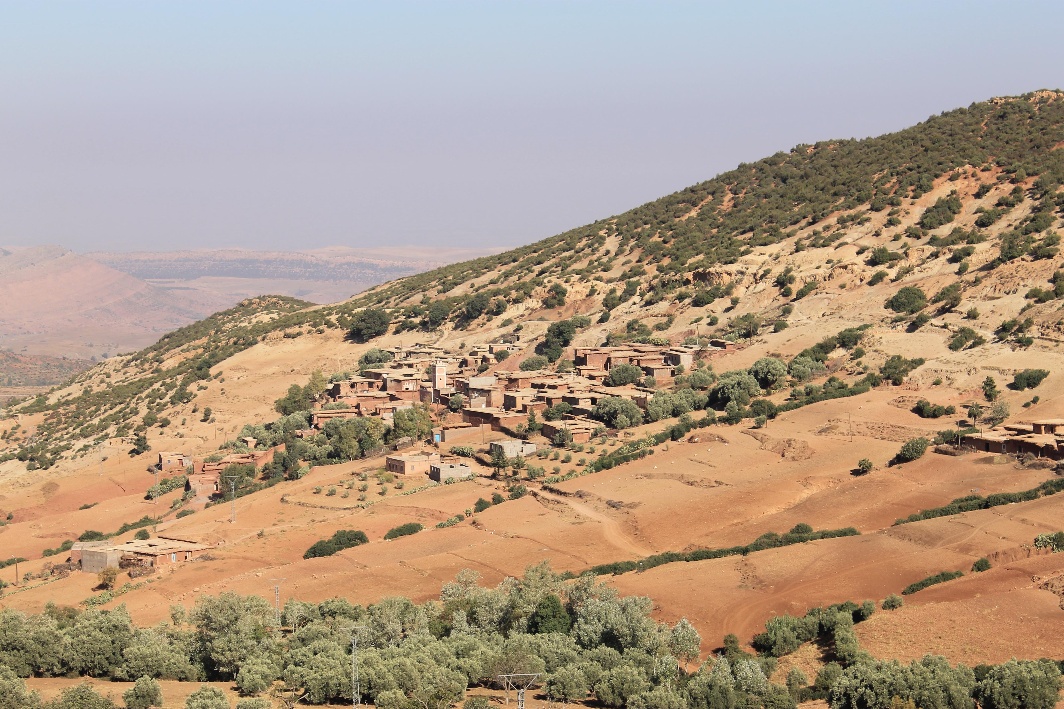 Un village dans le Haut Atlas au Maroc