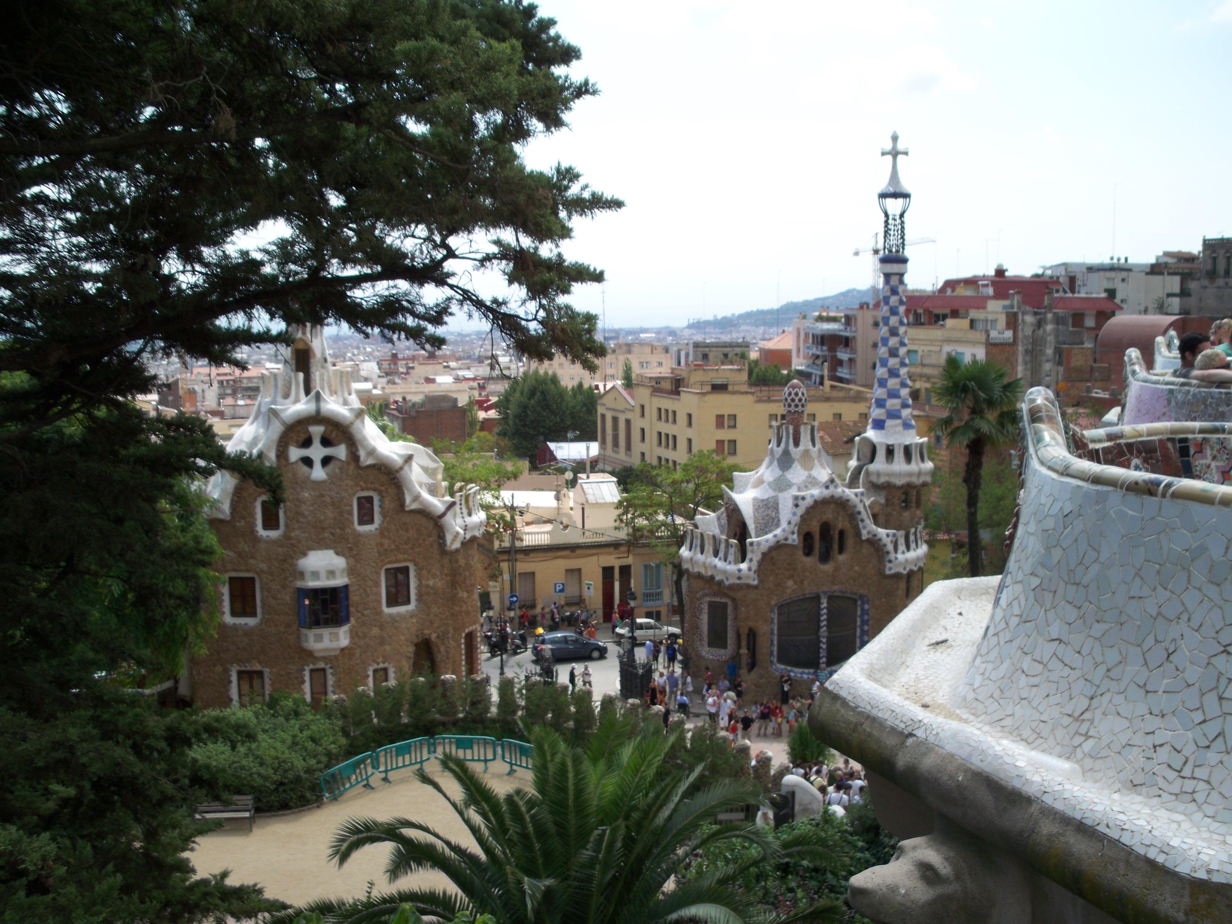 La maison de Gaudi dans le parc Güell