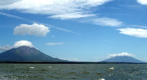 Les 2 volcans de l''île d'Ometepe au Nicaragua