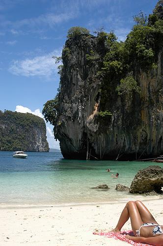 Bronzage en Thailande