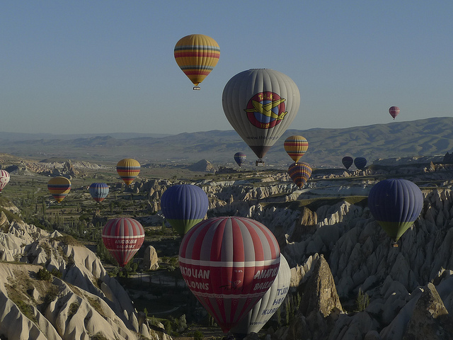 La Cappadoce et ses montgolfières en Turquie