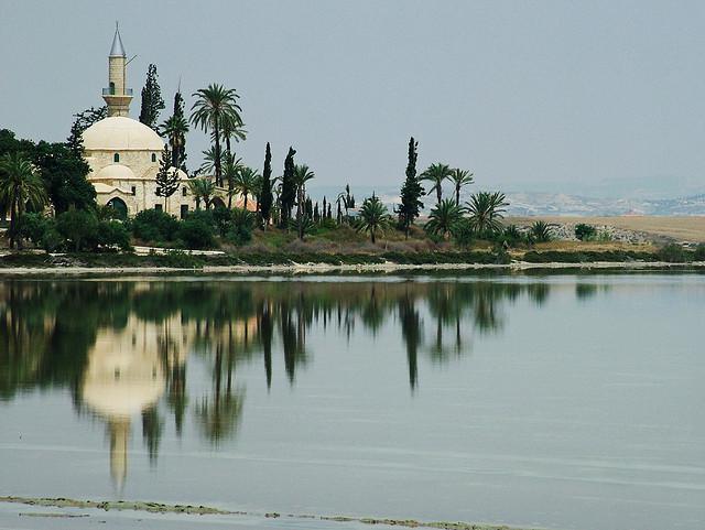 Mosquée Hala Sultan Tekke, près de Larnaca à Chypre