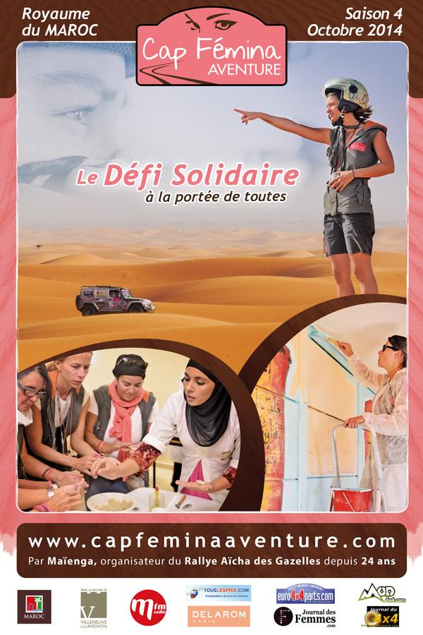 Affiche du Raid Cap Femina 2014 Source photo : http://www.capfeminaaventure.com/fr/accueil/