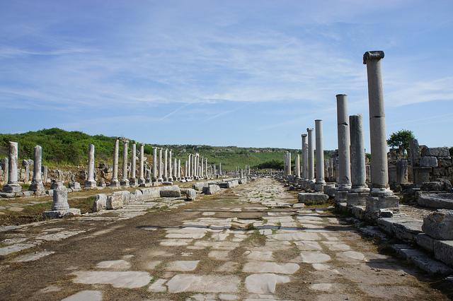 Le site de Pergé en Turquie