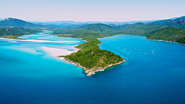 Ile Whitsunday en Australie