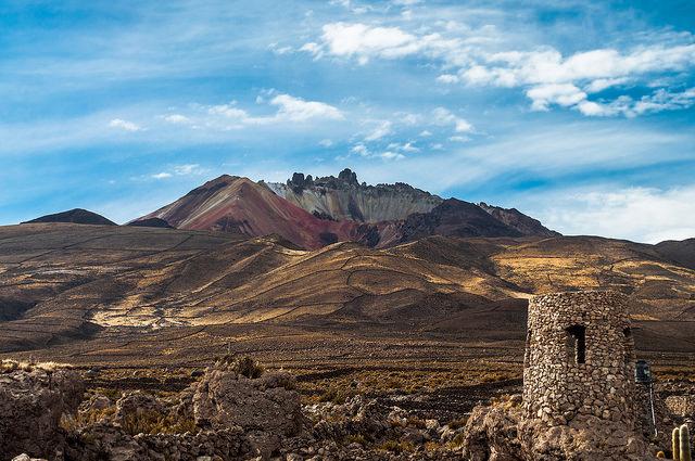 Le volcan Tunupa en Bolivie