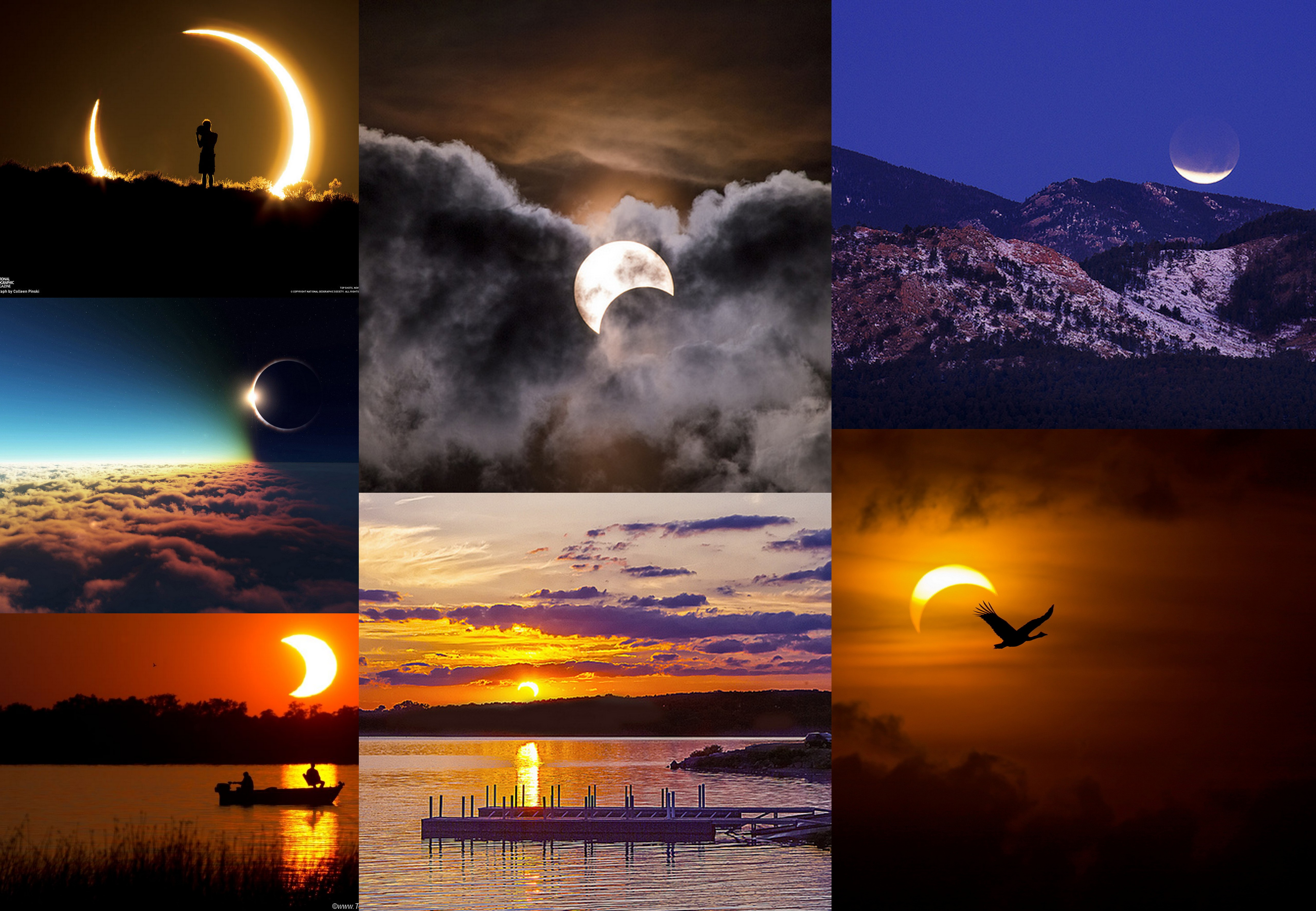 Les plus belles photos d'éclipses solaires