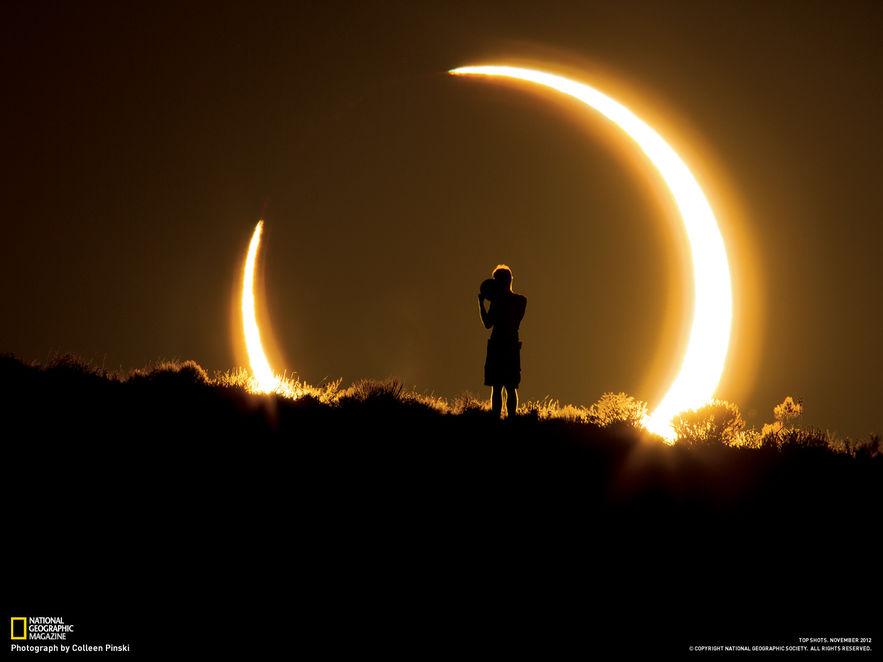 Éclipse solaire de 2015 vue depuis l'Islande © Colleen Pinski Photo disponible sur guidetoiceland.is