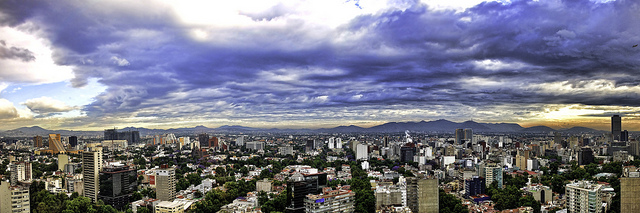 Panorama sur Mexico City