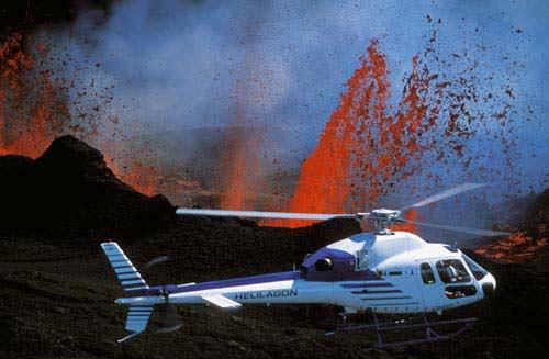 Vol en hélicoptère autour du Piton de la Fournaise